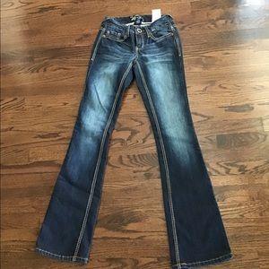 NWT Vanity Sasha Curvy Fit Bootcut Jeans 25x33
